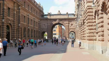 estocolmo : STOCKHOLM - SWEDEN, AUGUST 2015: old city and parliament view