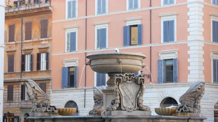 italian fountains, rome, italy