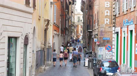 ROME - ITALY, AUGUST 2015: people walking, daily life view