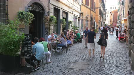 ROME - ITALY, AUGUST 2015: people travel enjoy on streets