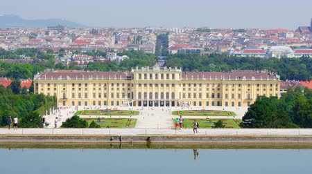 palaces : schonbrunn palace, vienna, austria, timelapse, zoom in, 4k