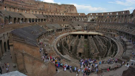 colloseum : inside of Colosseum, rome, italy, timelapse, zoom out, 4k
