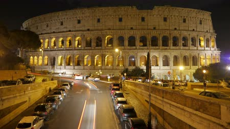 colloseum : Colosseum at night, rome, italy, timelapse, 4k