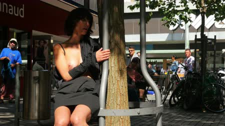 BIELBIENNE - SWITZERLAND, AUGUST 2015: public nudity festival