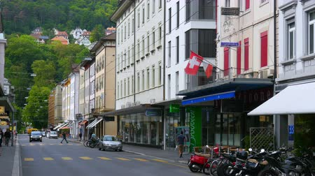 biel : BIELBIENNE - SWITZERLAND, AUGUST 2015: streets daily life