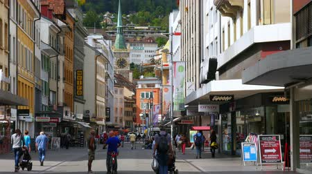 biel : BIELBIENNE - SWITZERLAND, AUGUST 2015: downtown swiss streets view
