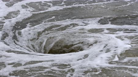 опасность : view of natural whirlpool in water