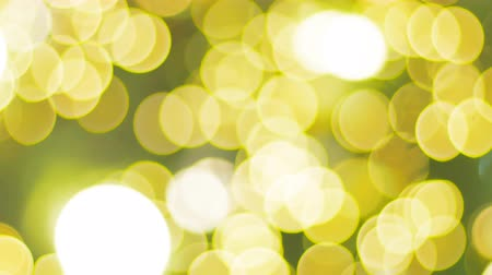 x mas : Abstract background Yellow light bokeh of celebration Stock Footage