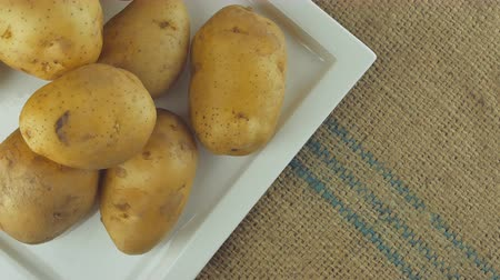 batatas : Rotation of Potato Macro Close Up Stock Footage