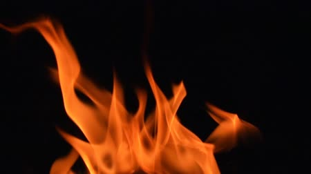 質地 : Fire flames in super slow motion isolated on black. 影像素材