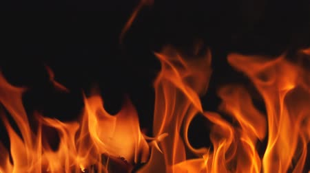 質地 : Fire Flames in Super Slow Motion on black background.