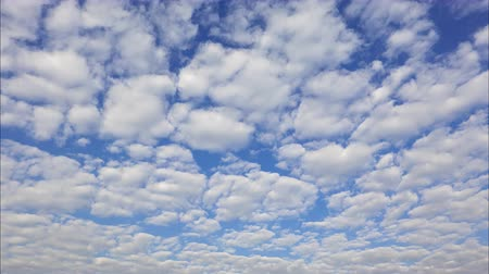 meteorologia : Time Lapse of White fluffy clouds in the blue sky background Stock Footage