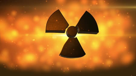 doomsday : video bacground with radiation symbol
