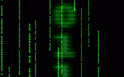 şifreleme : Digital binary data, streaming code background. Matrix background. Programming  Coding  Hacker concept. Cyberspace with green digital falling lines, abstract background, binary chain. Crypto space.