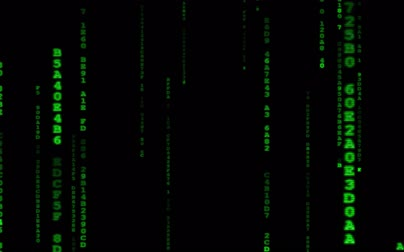 Digital binary data, streaming code background. Matrix background. Programming  Coding  Hacker concept. Cyberspace with green digital falling lines, abstract background, binary chain. Crypto space.