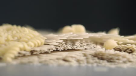 Composition of different types of pasta