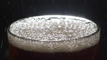 Close up of Cola and bubbles in a glass Dostupné videozáznamy