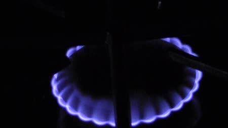 fogão : Gas Flame Stock Footage