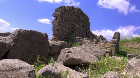 akropol : Pergamon, ruins of ancient city, Turkey, Bergama, 4K video
