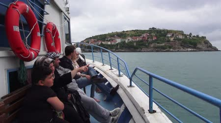 turk : Turkish ship passengers watching the sea, 01.06.2014, Turkey, Amasra
