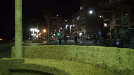 kippur : Tel Aviv, Israel -  September 22, 2015:  Night city in Yom Kippur (Judgment Day)