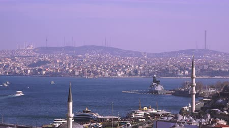 турецкий : Bosphorus view, Turkey Стоковые видеозаписи
