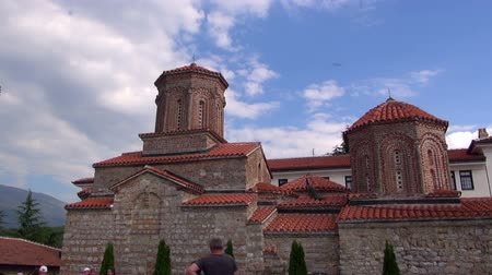 ohrid : Monastery of Saint Naum, 03.07.2015, Macedonia, Ohrid Stock Footage