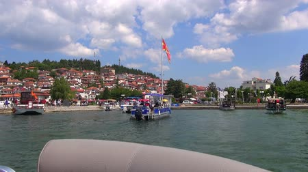 ohrid : Beautiful View of Lake Ohrid, 03.07.2015, Macedonia, Ohrid Stock Footage