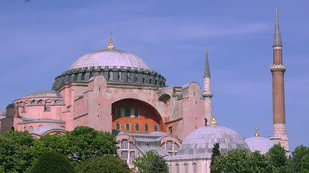 mesquita : Hagia Sophia (Saint Sophia), first christian cathedral, then muslim mosque, and now a museum, 06.10.2017,  Istanbul, Turkey