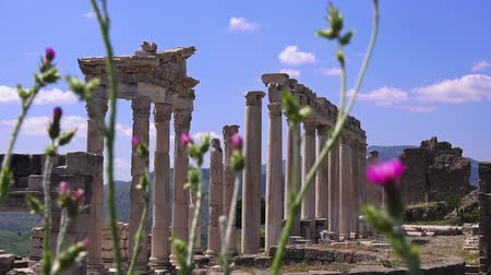 pergamon : Pergamon. Beautiful colorful view of the ruins of the ancient city in spring, Bergama, Turkey