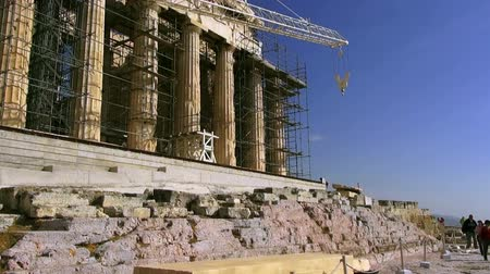 deterioration : Acropolis in Athens, 09.10.2013, Greece, Athens Stock Footage
