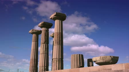 arkeolojik : Assos (Behramkale), ruins of ancient city, now museum, Turkey Stok Video