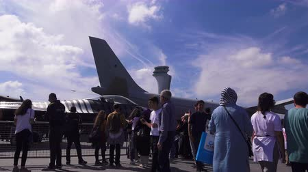 ISTANBUL. TURKEY - SEPTEMBER 22, 2018: Teknofest Aviation and Space Technology Festival at the new airport of the city Stock mozgókép
