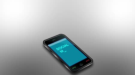 sosyal : Telephone with signs of a growing social network Stok Video