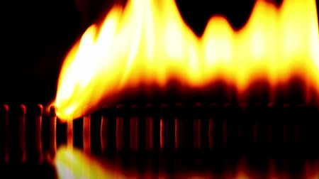 match : Burning matches with sound Stock Footage