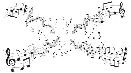 sobre o branco : Music notes over white background