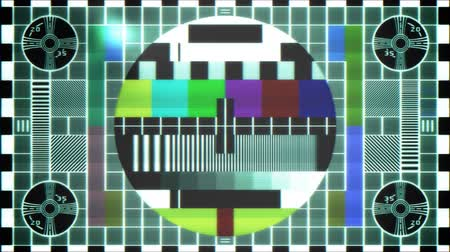 próba : TV Test Pattern  Stock mozgókép