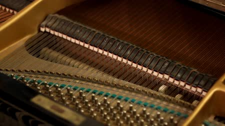classici : Interno del pianoforte Filmati Stock
