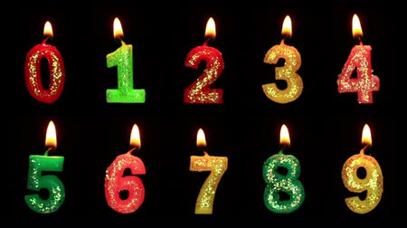 eight : Numbers in the form of candles