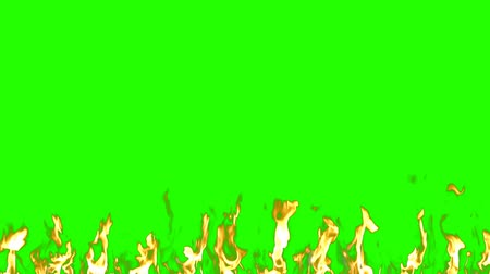fumo : Real Slow Fire on the green screen