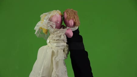 beijos : Wedding kiss puppets