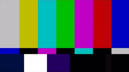 tv screen : TV Test Pattern  Stock Footage