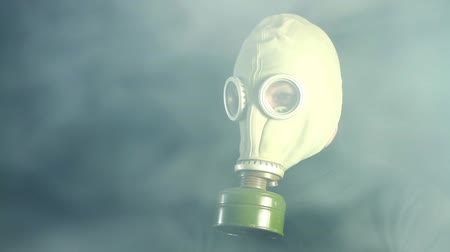 respirator : Man  in gas mask
