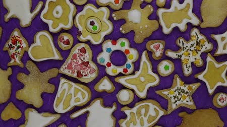 fırınlama : Homemade holiday cookies Stok Video