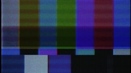 barmetro : Flickering analog TV Test Pattern Stock Footage