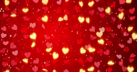 crimson : Red hearts. Happy Valentines day seamless loop background.. Stock Footage