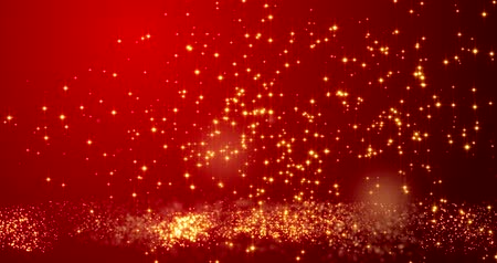 ano novo chinês : Golden confetti bokeh lights on the red Happy Valentines day background.