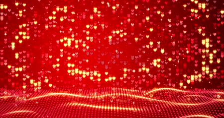 vibrující : Red hearts. Happy Valentines day background.