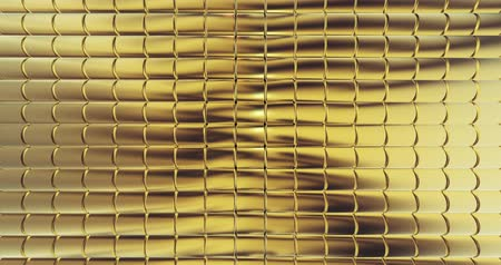 lom světla : gold foil tiles texture background 3D rendering