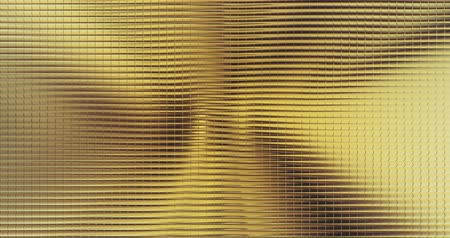 florete : gold foil tiles texture seamless loop background 3D rendering